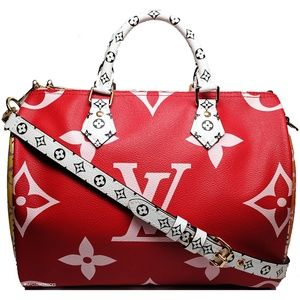 Louis Vuitton Giant Monogram Red / Pink Speedy 30